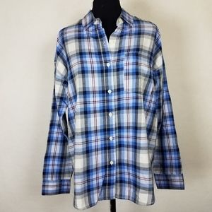 NEW Old Navy Womens Medium Boyfriend Fit Plaid